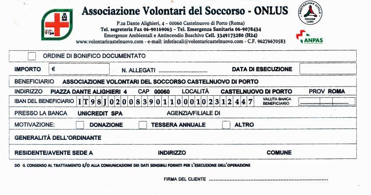Raccolta fondi for Bonifico ristrutturazione